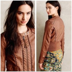 Hei Hei Anthropologie Faux Leather Jacket